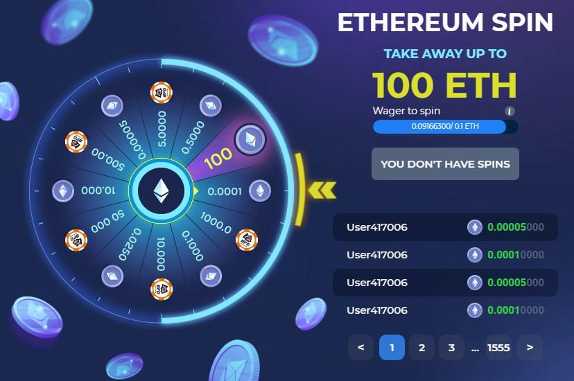 ethereum spin betfury
